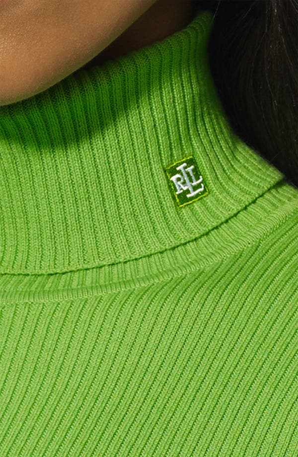 Alternate Image 3  - Lauren Ralph Lauren Turtleneck (Petite) (Online Only)