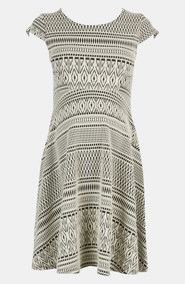 Alternate Image 3  - Topshop Aztec Print Jacquard Maternity Dress