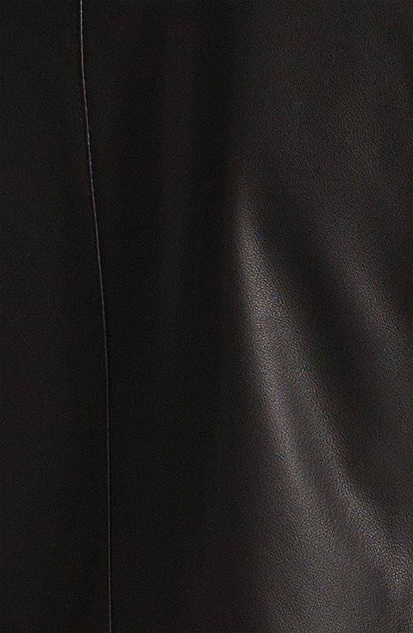 Alternate Image 4  - Vince Snap Front Leather Jacket