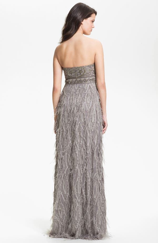 Alternate Image 2  - Sue Wong Embellished Strapless Tulle & Mesh Gown