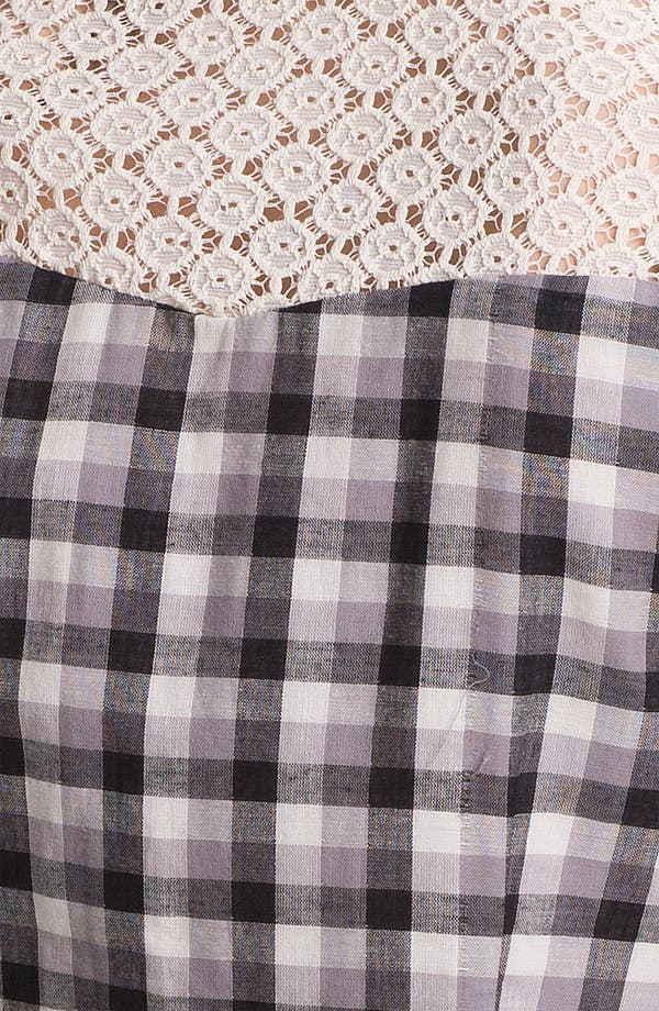 Alternate Image 3  - Two by Vince Camuto Lace Trim Plaid Shirt