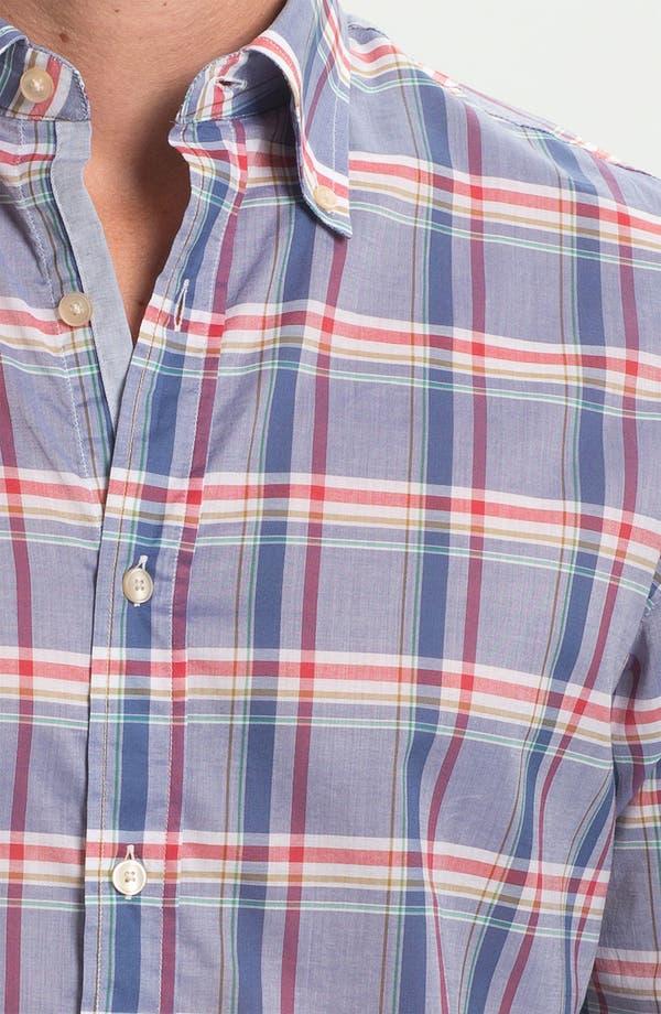 Alternate Image 3  - Hickey Freeman Regular Fit Sport Shirt