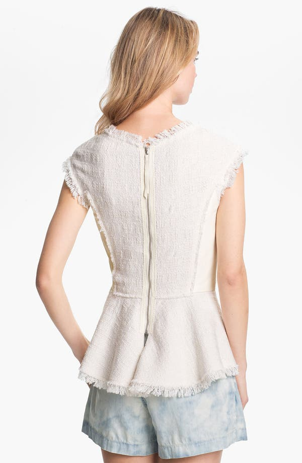 Alternate Image 2  - Rebecca Taylor Tweed & Leather Top