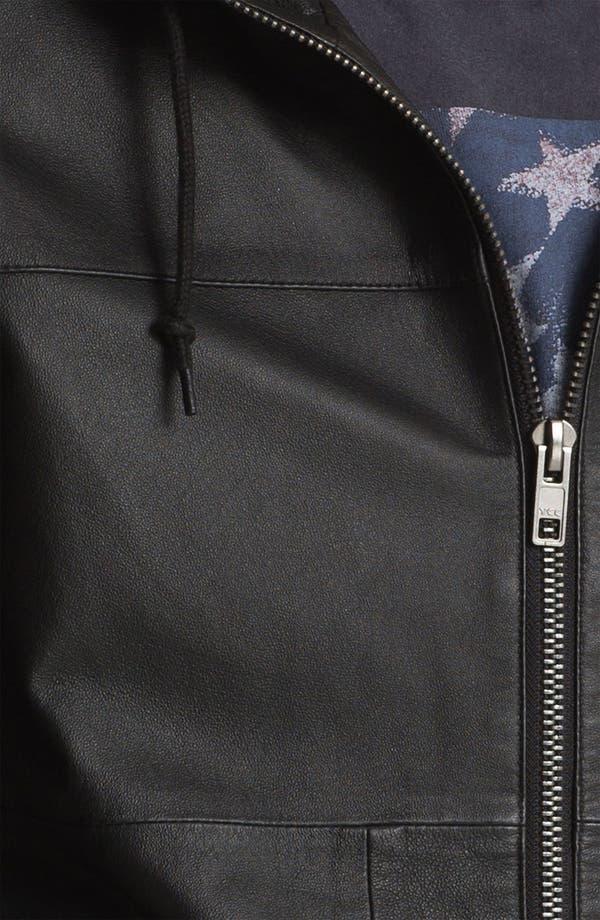 Alternate Image 3  - Topman 'Bramley' Hooded Leather Jacket