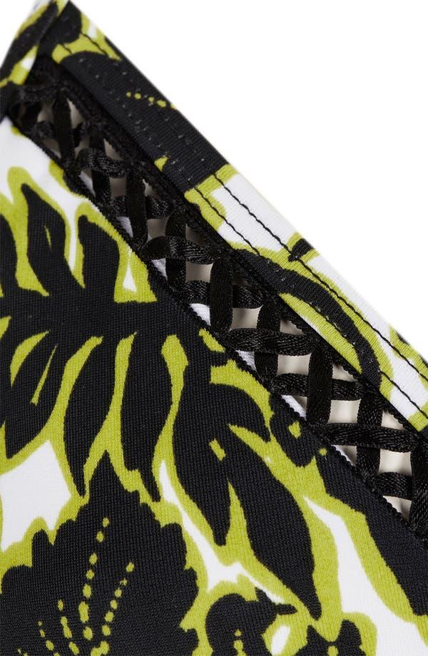 Alternate Image 3  - Topshop Neon Lace Print Triangle Bikini