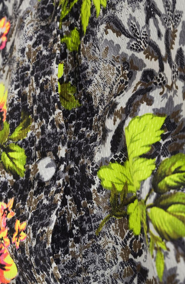 Alternate Image 3  - Topshop 'Acid Leaf' Sleeveless Shirt