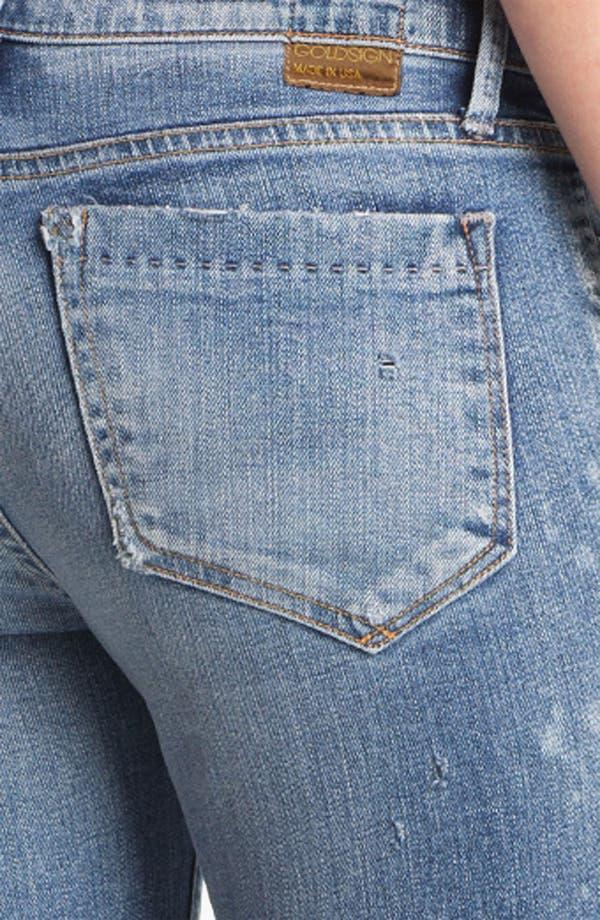 Alternate Image 3  - Goldsign 'Frontier' Crop Skinny Stretch Jeans (Ruby)