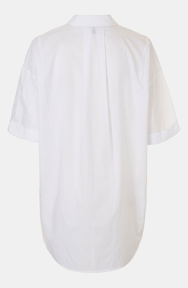 Alternate Image 2  - Topshop Oversized High/Low Shirt
