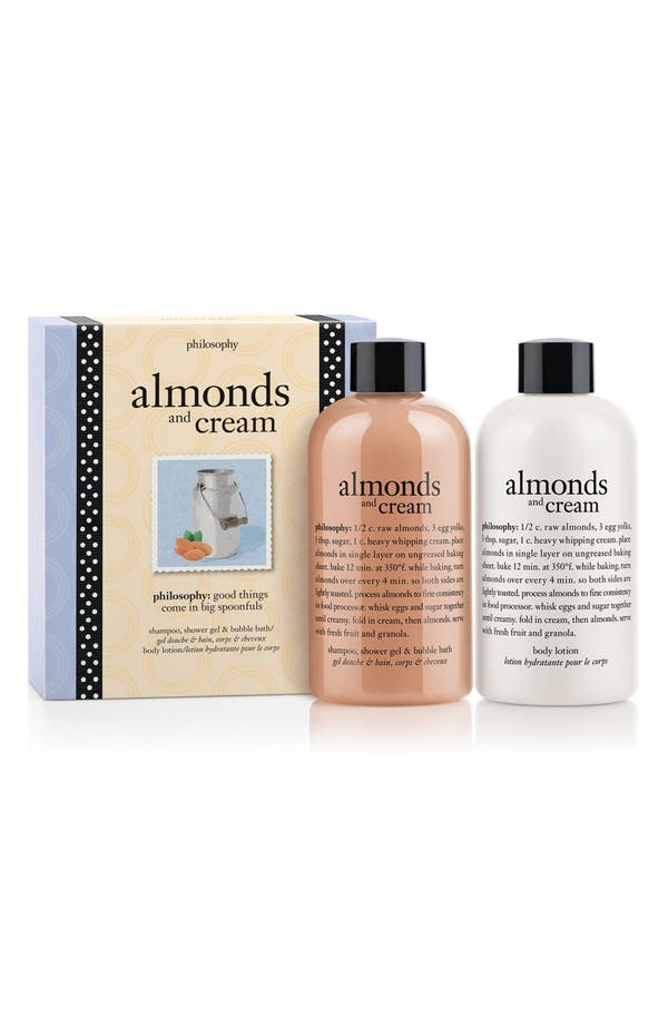 Main Image - philosophy 'almonds & cream' duo