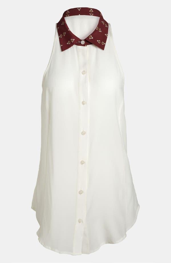 Main Image - Wayf Print Collar Chiffon Tunic