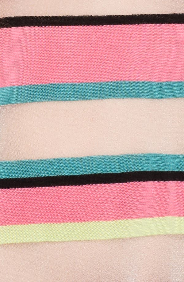 Alternate Image 3  - Trouvé Neon Sheer Stripe Sweater