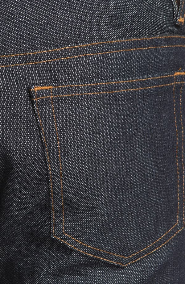 Alternate Image 4  - A.P.C. Petit New Standard Slim Straight Leg Selvedge Jeans
