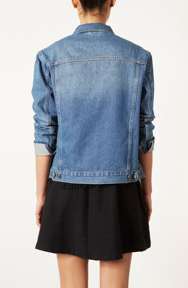Alternate Image 2  - Topshop Moto 'Sylvie' Vintage Denim Jacket