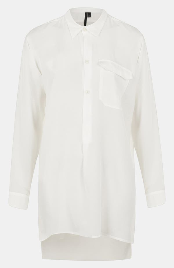 Main Image - Topshop Boutique Silk Workwear Shirt
