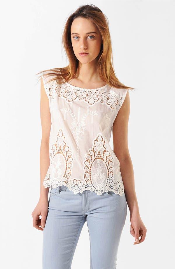 Main Image - maje 'Aaron' Cotton & Silk Top