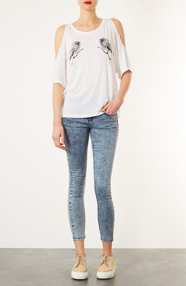 Alternate Image 4  - Topshop Open Shoulder Tee