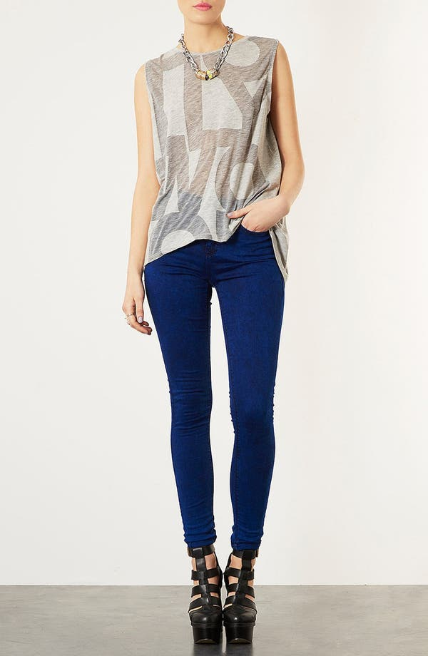 Alternate Image 4  - Topshop 'Hollywood' Burnout Tank