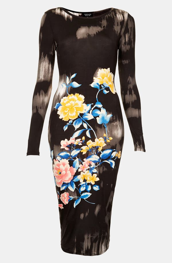 Alternate Image 1 Selected - Topshop Eastern Floral Body-Con Dress