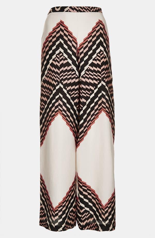 Alternate Image 3  - Topshop Zigzag Print Wide Leg Trousers
