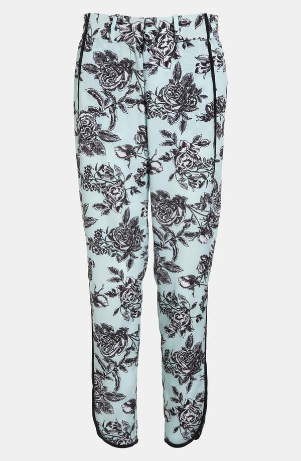 Main Image - Wayf Tuxedo Stripe Floral Pants
