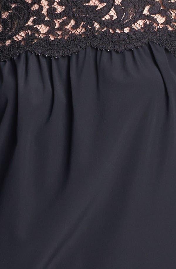 Alternate Image 5  - St. John Collection Plume Lace & Silk Crepe Blouse