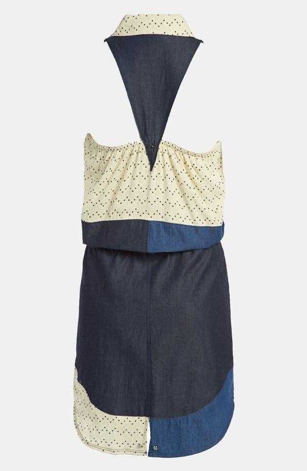 Alternate Image 2  - Viva Vena! 'Chinati' Patchwork Gauze & Chambray Dress