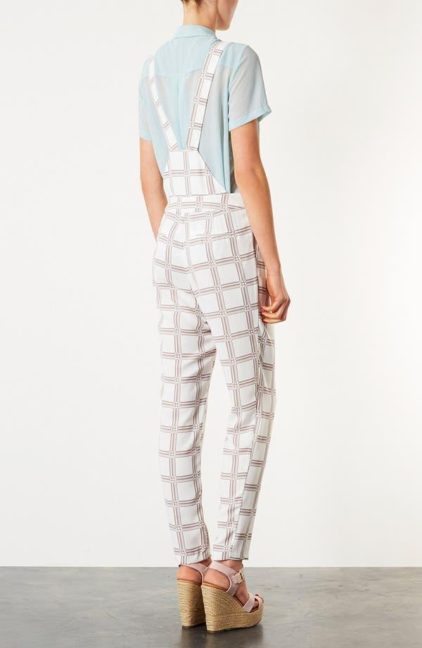 Alternate Image 2  - Topshop Checkered Jumpsuit