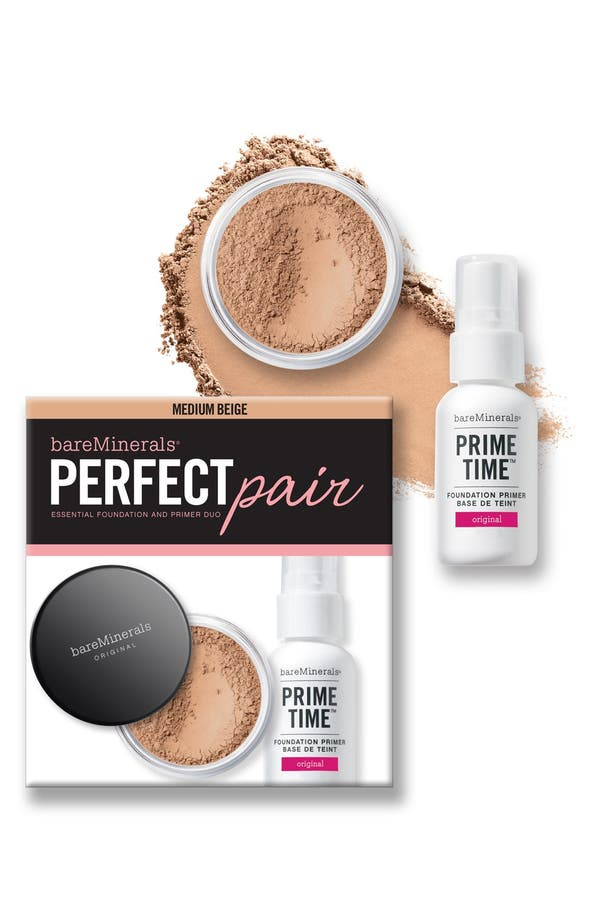 Alternate Image 1 Selected - bareMinerals® 'Prime Time' Primer & Original Foundation Duo ($50 Value)