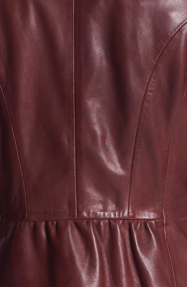 Alternate Image 3  - Elie Tahari 'Beverley' Leather Moto Jacket