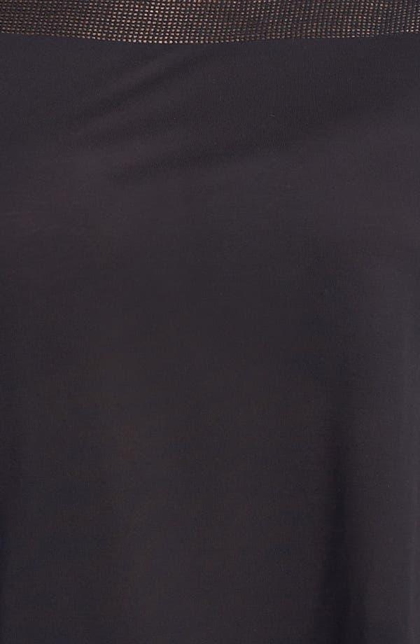 Alternate Image 3  - DKNYC Mixed Media Peplum Top (Plus)