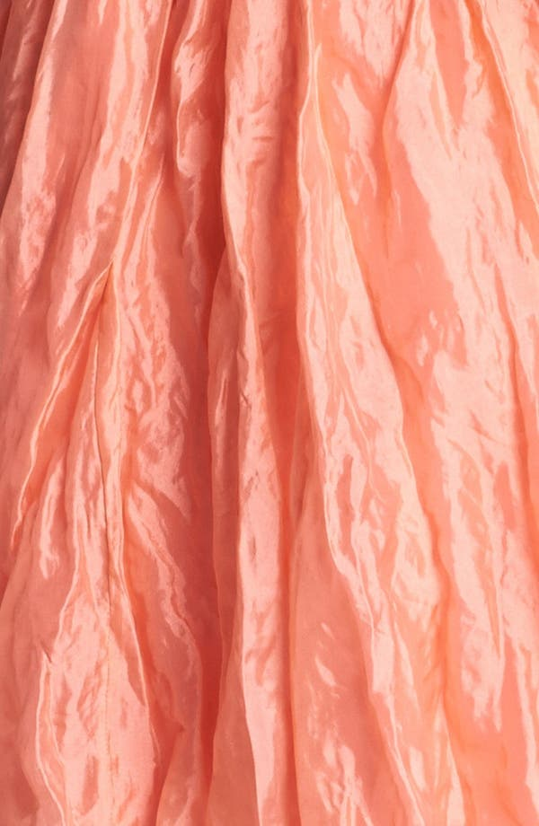 Alternate Image 3  - Nicole Miller Metallic Silk Fit & Flare Dress
