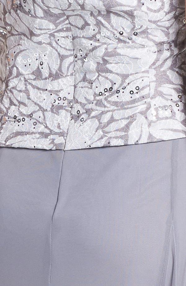 Alternate Image 4  - Alex Evenings Embellished Mixed Media Dress & Jacket