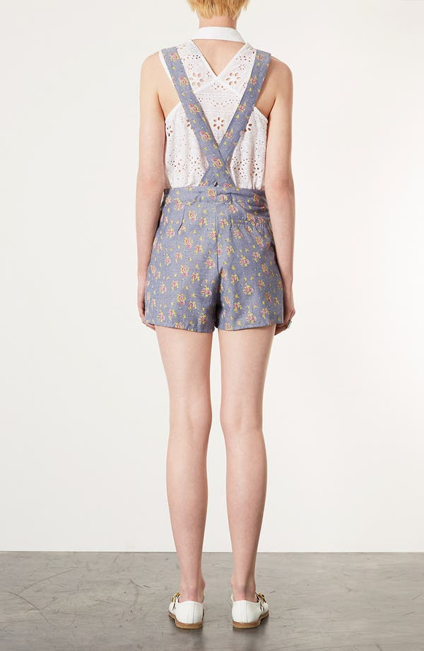 Alternate Image 2  - Topshop Floral Chambray Romper