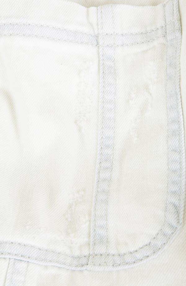 Alternate Image 4  - Topshop Moto Denim Overall Shorts