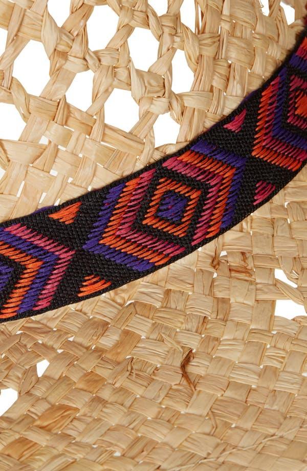 Alternate Image 2  - Topshop 'Aztec Band' Straw Fedora