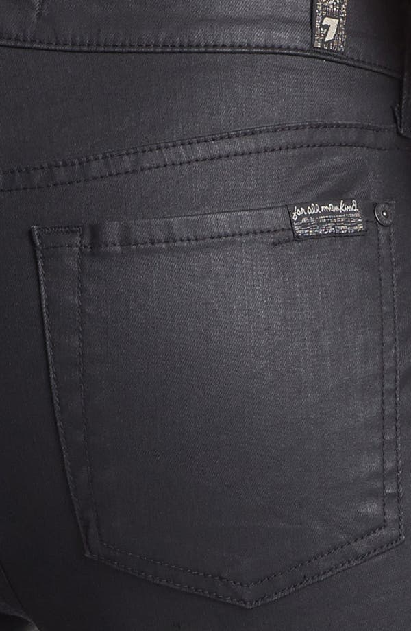 Alternate Image 3  - 7 For All Mankind® Coated Side Zip Pants