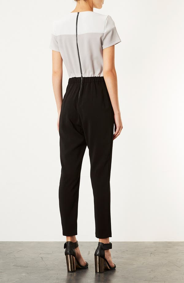 Alternate Image 2  - Topshop Colorblock Jumpsuit
