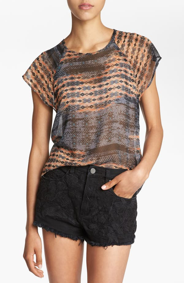 Alternate Image 1 Selected - Wayf Sheer Raglan Top