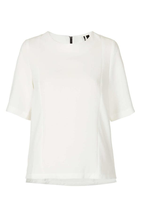 Alternate Image 3  - Topshop Elbow Sleeve Woven Tee