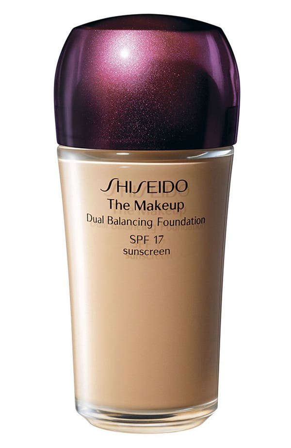 Main Image - Shiseido 'The Makeup' Dual Balancing Foundation SPF 17