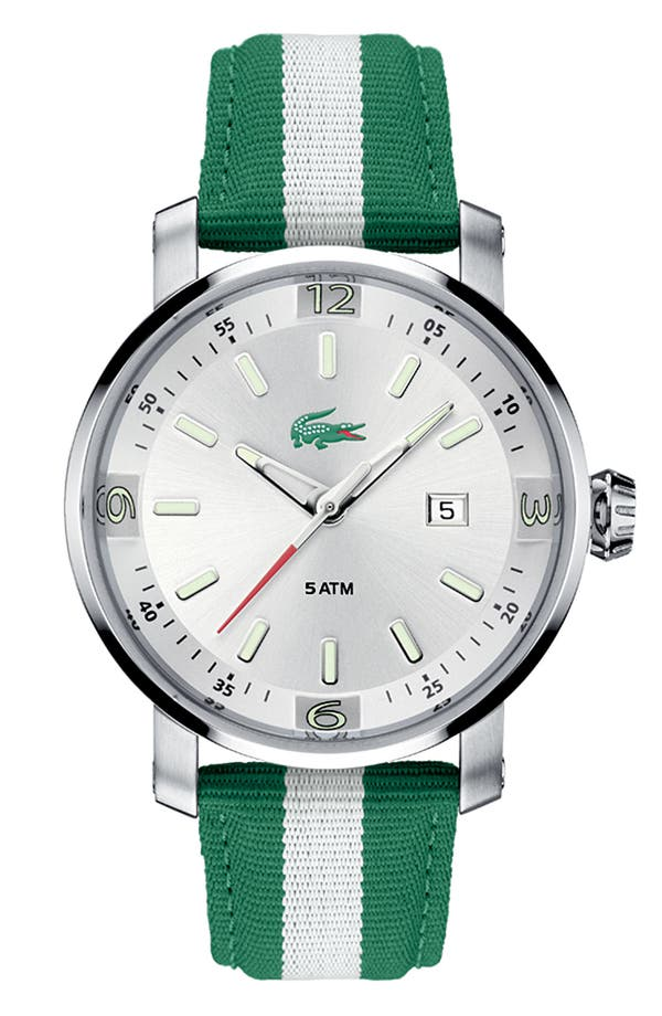 Alternate Image 1 Selected - Lacoste 'Mainsail' Men's Round Watch