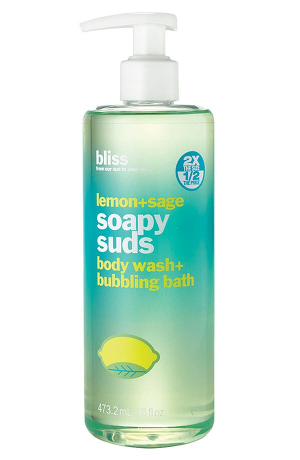Alternate Image 1 Selected - bliss® 'Lemon + Sage Soapy Suds' Body Wash + Bubbling Bath ($36 Value)