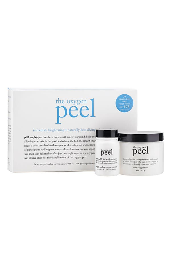 Alternate Image 1 Selected - philosophy 'the oxygen peel' super size kit ($100 Value)