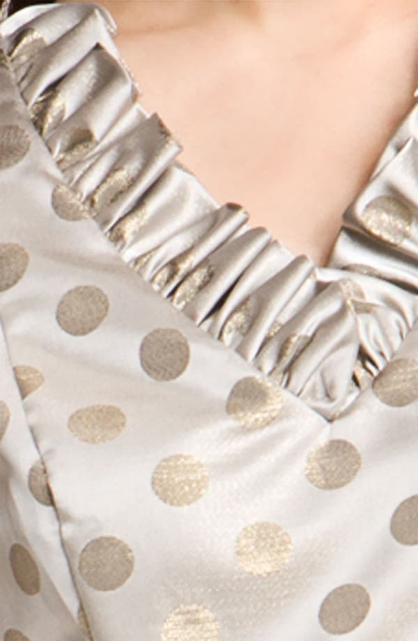 Alternate Image 3  - Eliza J Belted Ruffle Satin Sheath Dress