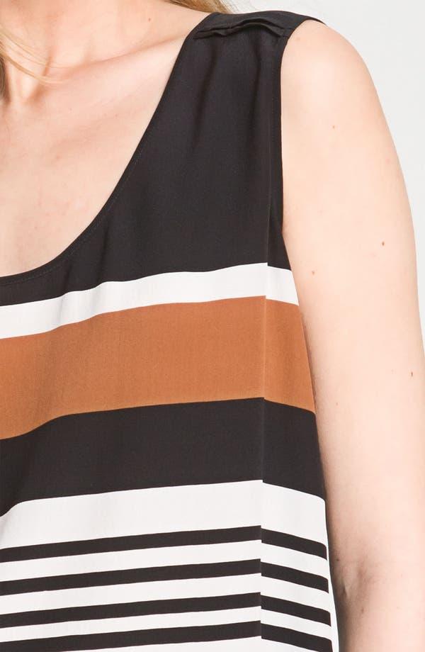 Alternate Image 3  - Nordstrom Collection Sleeveless Stripe Silk Blouse