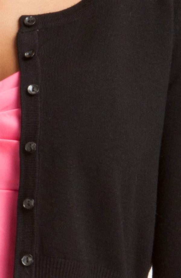 Alternate Image 3  - Donna Ricco Knit Cardigan (Petite)