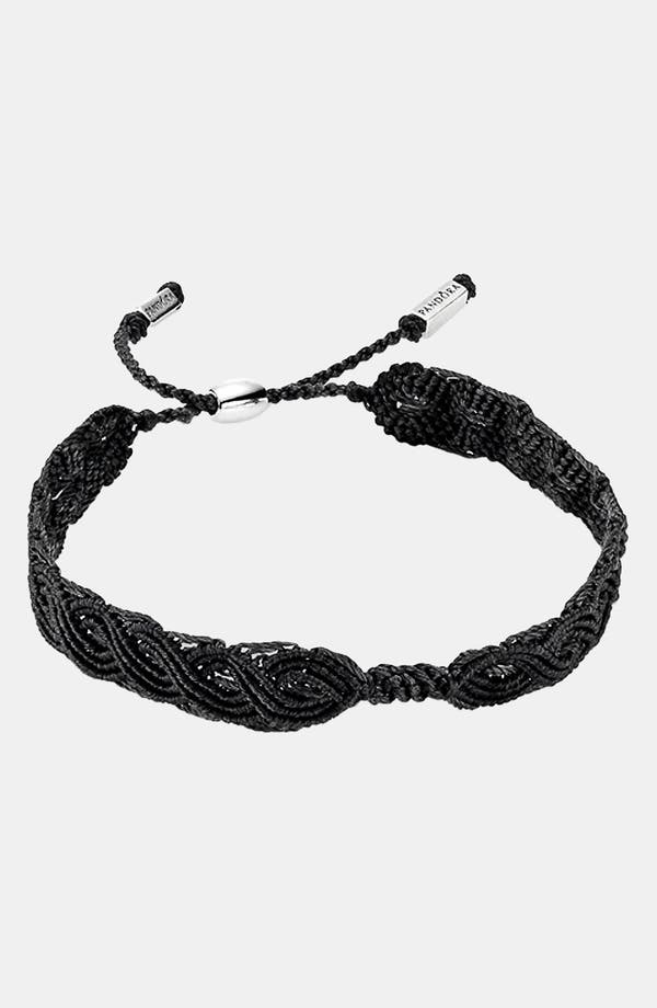 Alternate Image 1 Selected - PANDORA Macramé Bracelet
