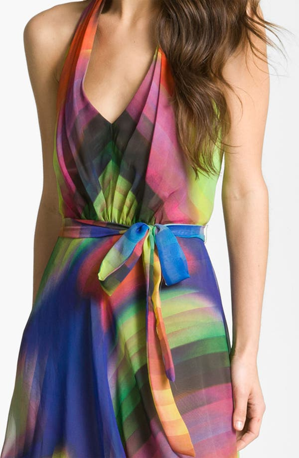 Alternate Image 3  - Suzi Chin for Maggy Boutique Print Halter Dress