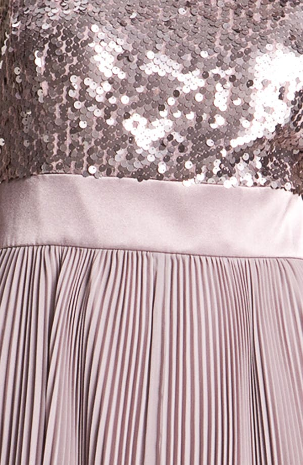 Alternate Image 3  - Eliza J Sequin Bodice Pleated Chiffon Dress