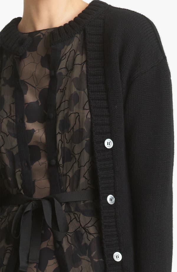 Alternate Image 3  - Nina Ricci Mousseline & Wool Layered Cardigan